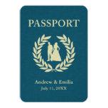 wedding passport personalized announcement