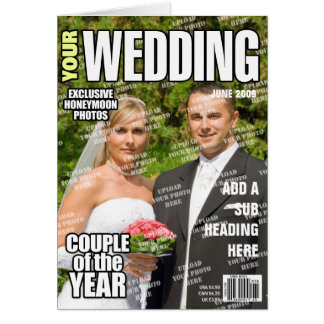 Wedding Personalized Magazine Cover Greeting Card