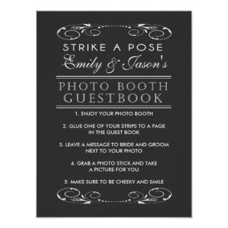 Wedding Photo Booth Guest Book sign Poster