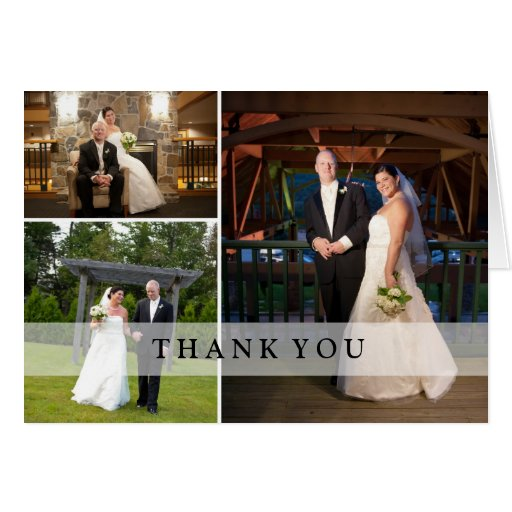 Wedding Photo Collage - Thank You Greeting Cards
