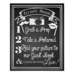 Wedding photo guest book sign chalkboard poster