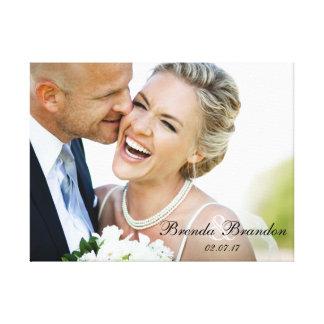 Wedding Photo Keepsake Canvas Canvas Print