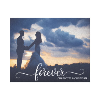 Wedding PHOTO Keepsake FOREVER + Names Canvas Print