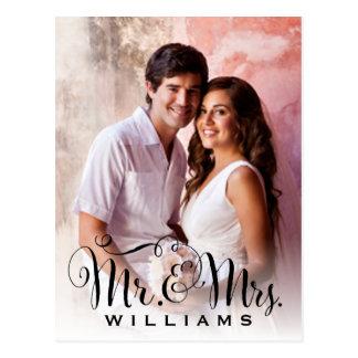 Wedding Photo Note Cards   Mr. and Mrs. Monogram