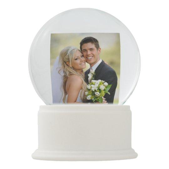 Wedding Photo Personalised Snow Globe