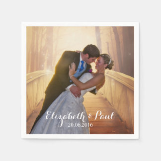 Wedding Photo Personalized Disposable Napkin