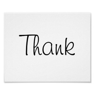 """Wedding photo prop sign """"Thank"""" of """"Thank You"""""""