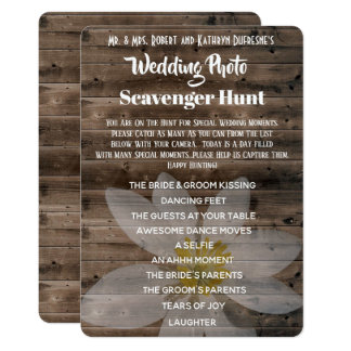Wedding Photo Scavenger Hunt Card