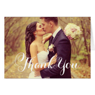 Wedding Photo | Script Thank You Note Card