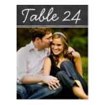 Wedding Photo Table Number Cards   Chalkboard Postcard