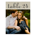 Wedding Photo Table Number Cards | Custom Template Post Cards