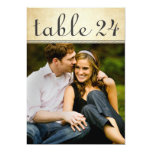 Wedding Photo Table Number Cards   Rustic Charm 13 Cm X 18 Cm Invitation Card