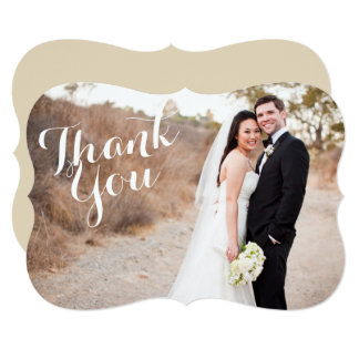 Wedding Photo Thank You Bracket Card