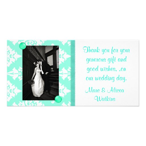 Wedding Photo Thank You Card Personalized Photo Card