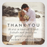 Wedding Photo Thank You Favour Stickers