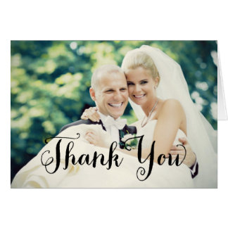 Wedding Photo Thank You | Folded Style Note Card