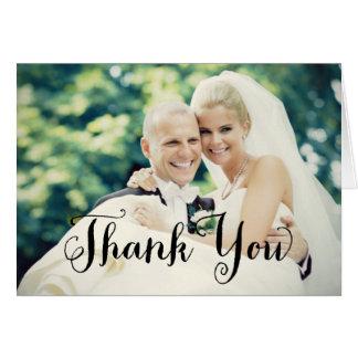 Wedding Photo Thank You | Folded Style Note Card