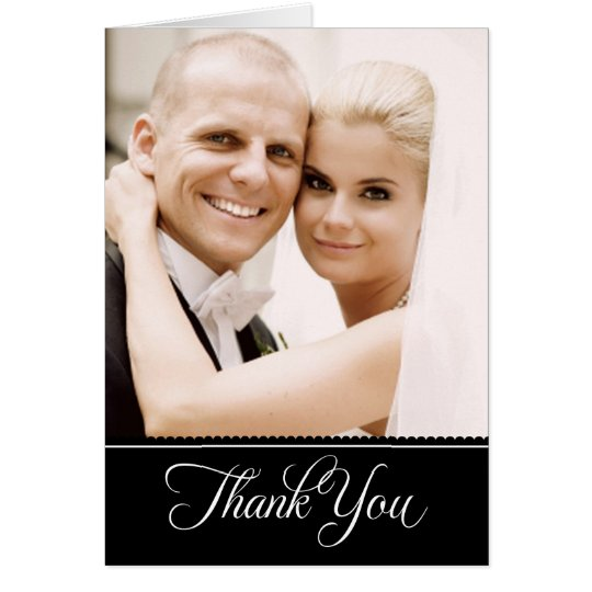Wedding Photo Thank You Note Cards | Black + White