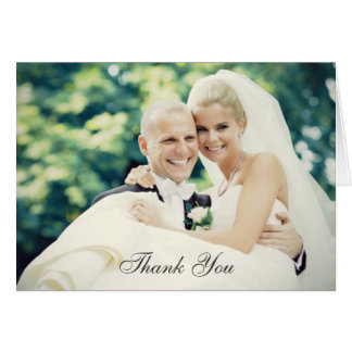 Wedding Photo Thank You Note Cards | Folded Style