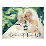 Wedding Photo Thank You Note Cards   Postcard