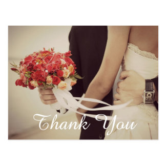 Wedding Photo Thank You Note Postcard
