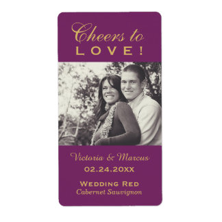 Wedding Photo Wine Bottle Favor Labels
