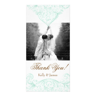 Wedding Photocard Vintage Spring Green Picture Card