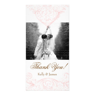 Wedding Photocard Vintage Spring Pink Photo Card