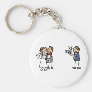 Wedding Photographer Photography Wedding Pictures Basic Round Button Key Ring