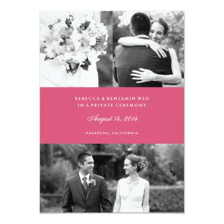 Wedding Photos Custom Color Marriage Announcement