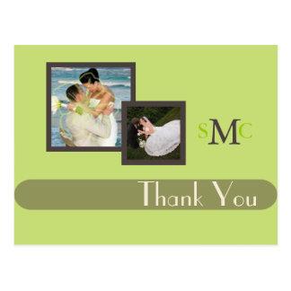 Wedding Photos Thank you postcards, plain Postcard