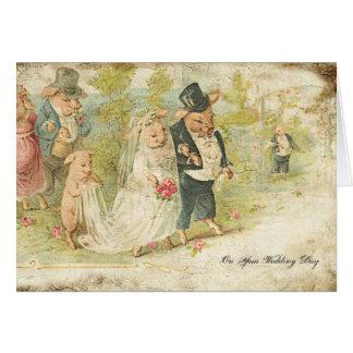 Wedding Pigs Card
