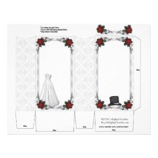Wedding Pinch Box Party Favors Bride Groom 21.5 Cm X 28 Cm Flyer