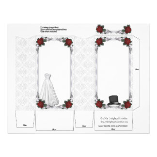 Wedding Pinch Box Party Favors Bride Groom Flyer Design