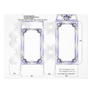 Wedding Pinch Box Party Favors Violet and Lace 21.5 Cm X 28 Cm Flyer