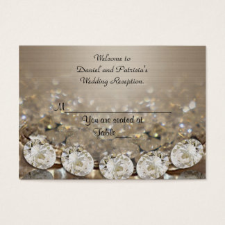 Wedding Place cards Diamonds