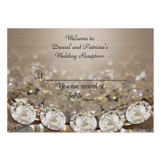 Wedding Place cards Diamonds Pack Of Chubby Business Cards