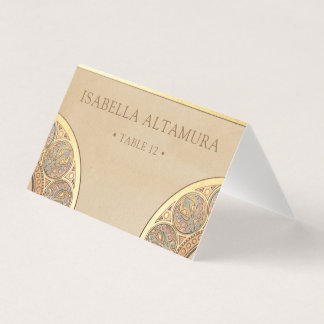 Wedding Place Cards | Gold Nouveau Deco