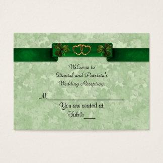 Wedding Place cards Irish shamrocks