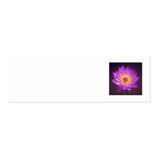 Wedding Place Name Card - lotus flower Pack Of Skinny Business Cards