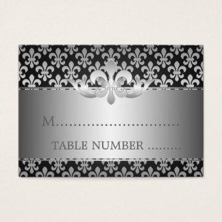Wedding Placecards Fleur De Lis Black Business Card