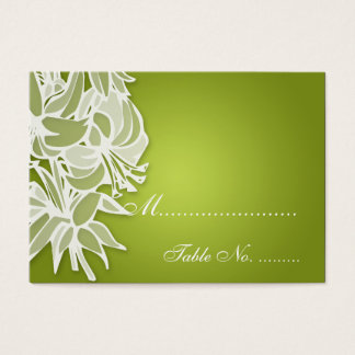 Wedding Placecards Lime Lily Bouquet