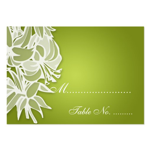 Wedding Placecards Lime Lily Bouquet Business Card Templates
