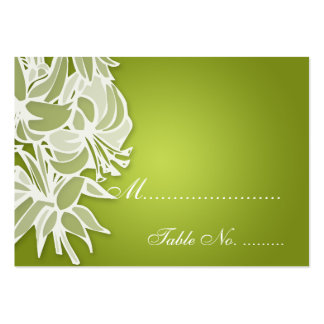 Wedding Placecards Lime Lily Bouquet Pack Of Chubby Business Cards
