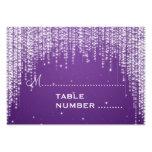 Wedding Placecards Night Dazzle Purple