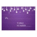 Wedding Placecards Shimmering Stars Purple