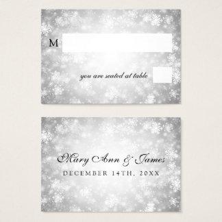 Wedding Placecards Silver Winter Wonderland Business Card