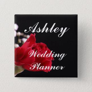 Wedding Planner 15 Cm Square Badge