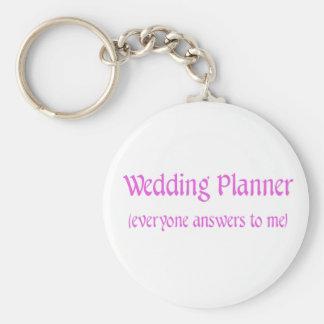 Wedding Planner Basic Round Button Key Ring