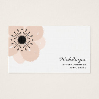 Wedding Planner Business Card - Pink Anemone